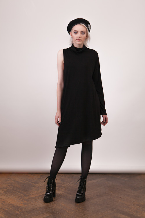 Sukienka One Sleeve Black